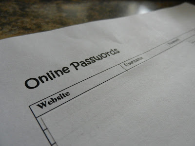 Day 30: Online Passwords