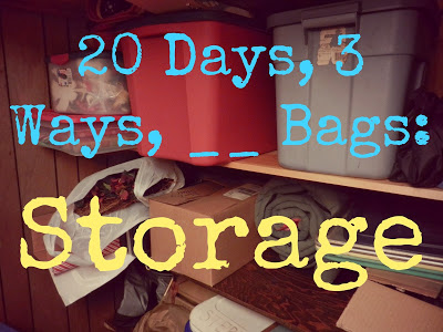 20 Days, 3 Ways, __ Bags: Storage