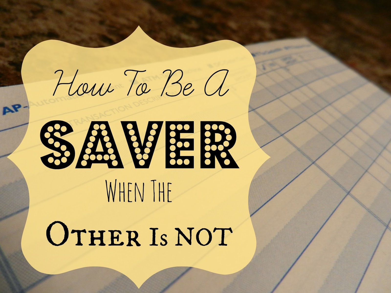 How to be a Saver When the Other is NOT