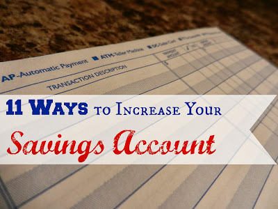 How To Increase Your Savings Account
