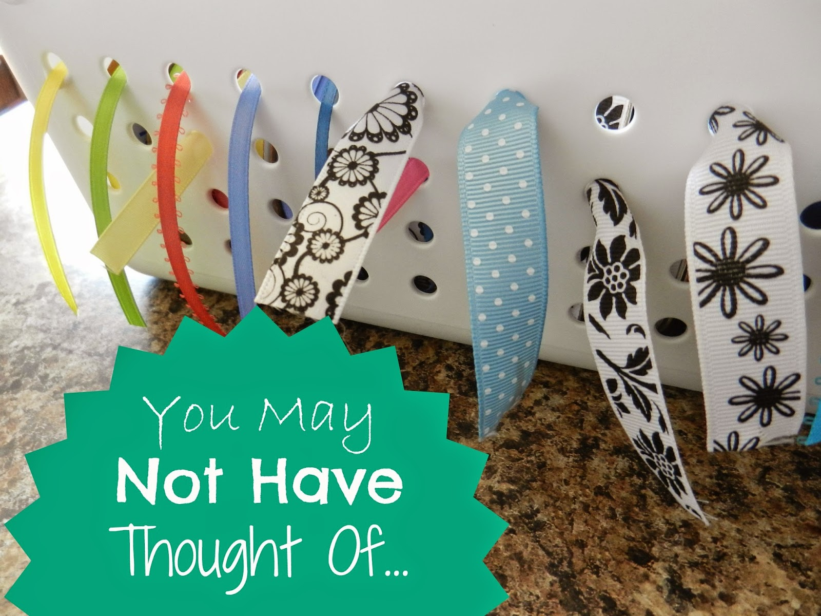 You May Not Have Thought Of…Ribbon Storage
