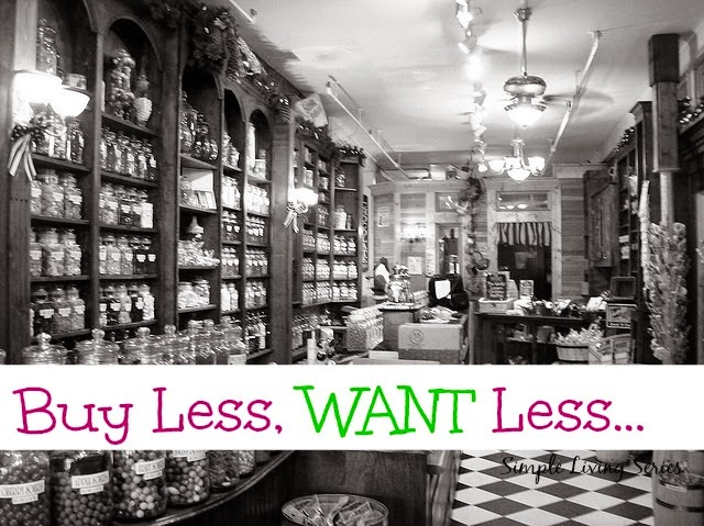 Simple Living: Buy Less, Want Less