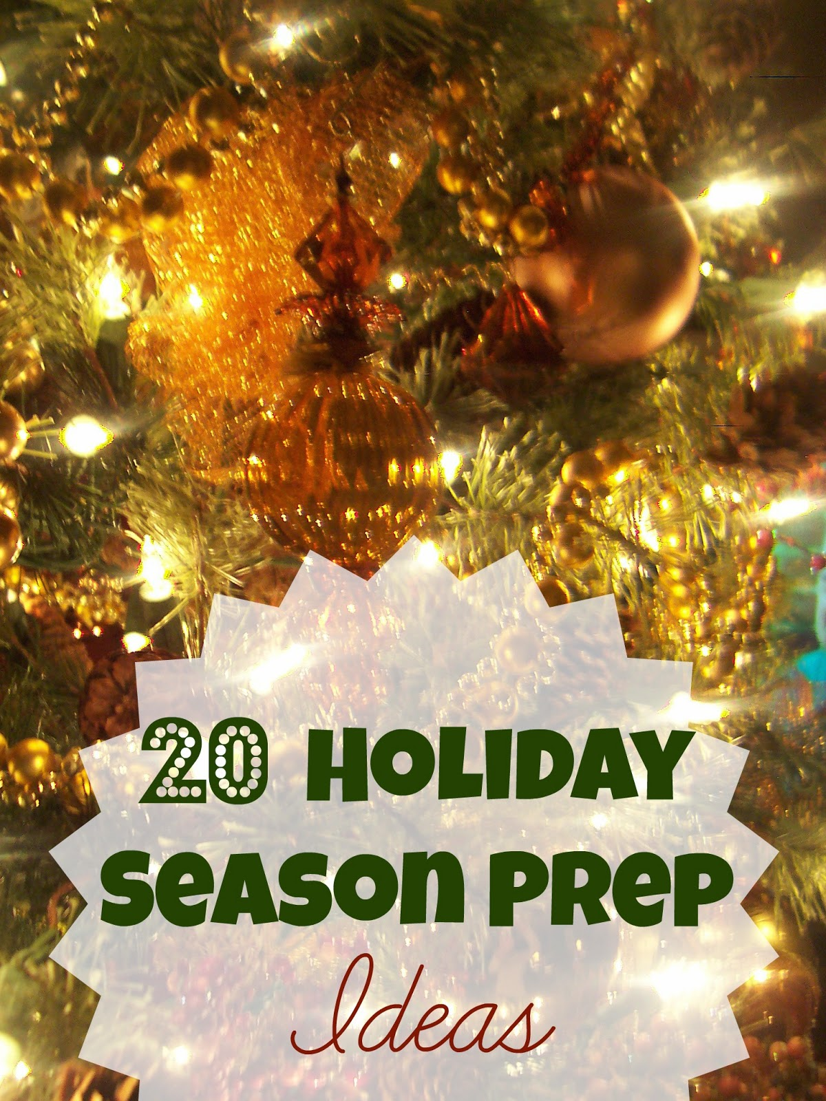 20 Holiday Season Preparation Ideas
