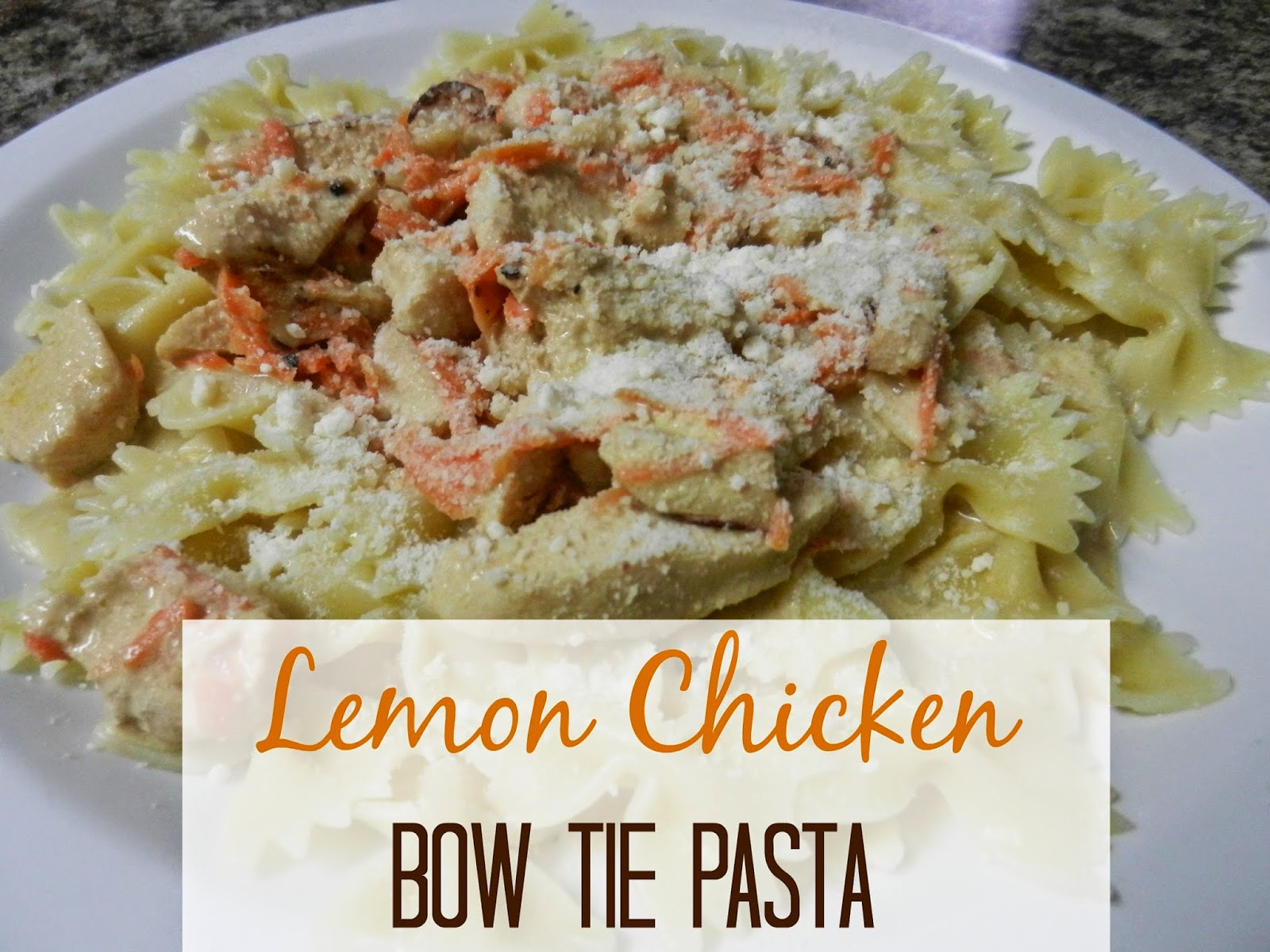 Lemon Chicken Bow Tie Pasta