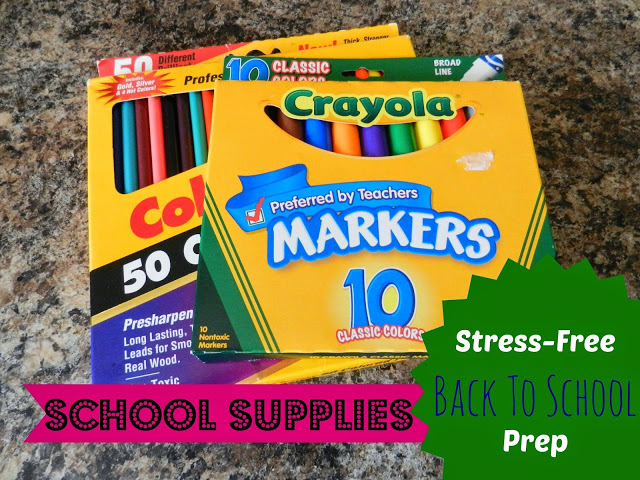 Stress-Free Back To School Prep: School Supplies
