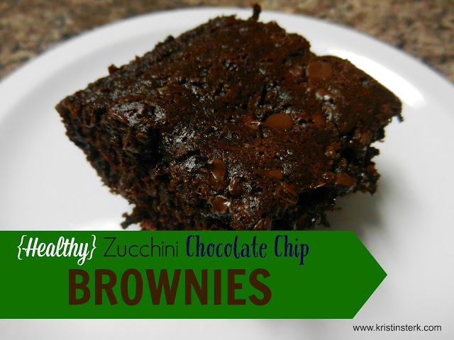 Healthy Zucchini Chocolate Chip Brownies