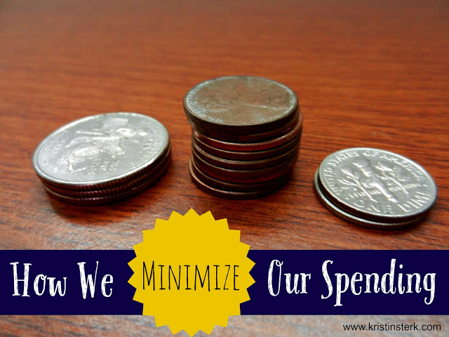 How We Minimize Our Spending
