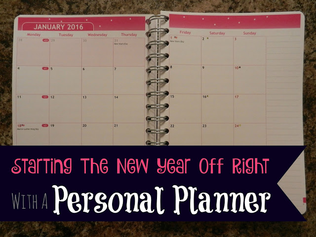 Starting The New Year Off Right With A Personal Planner