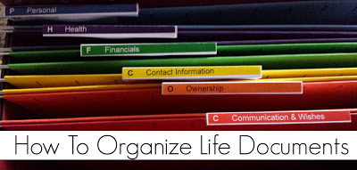 How To Organize Life Documents