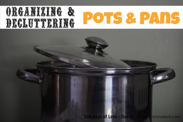Organizing Pots and Pans – Day 11